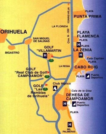 Cabo Roig Map Map / Getting Around / Information / Cabo Roig Spain.eu